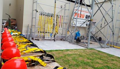 El uso de equipos de protección contra caídas
