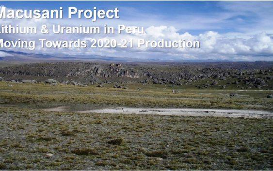 Proyecto de litio Macusani se presenta en el Investing in Latam Mining Cumbre en Chile