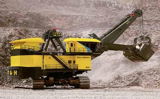 Palas eléctricas para alta producción minera