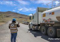 OEFA supervisa derrame de concentrado de cobre ocasionado por la volcadura de un camión encapsulado en Espinar – Cusco