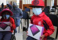 Antapaccay entregó tablets a estudiantes de Tintaya Marquiri en Espinar